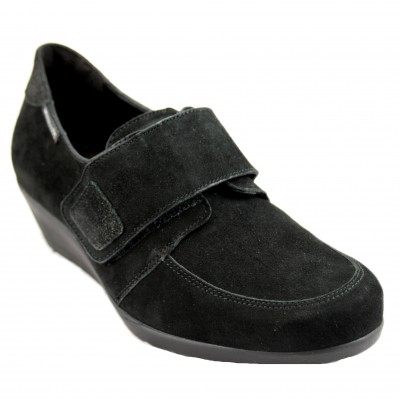 Mephisto Graziela - Black Ant Leather Woman Shoe with Velcro Closure and Removable Insole