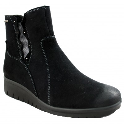 Romika Varese 18 - Especially Comfortable Women's Black Boots with Zipper