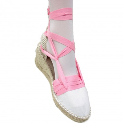 Espadrilles Wedge High Tres Vetes Pink